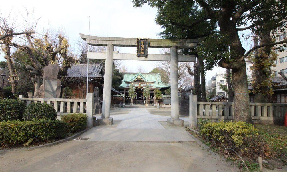 隅田公園内にあります、9月にお祭り、氏神様
