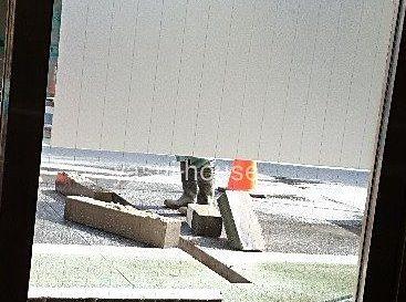 道路掘削 @宝通り
