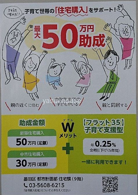子育て世帯の住宅購入/墨田区助成金